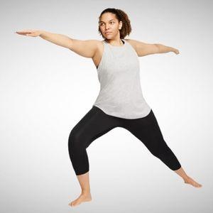 Nike NWT DriFit Black Yoga Ruche 7/8 Tights 2x